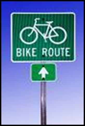 Bike Route Sign Example