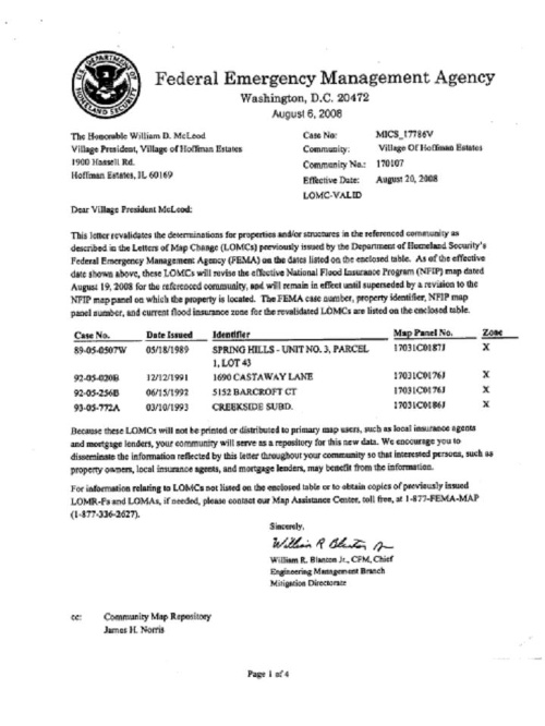 fema revalidation letter august 2008