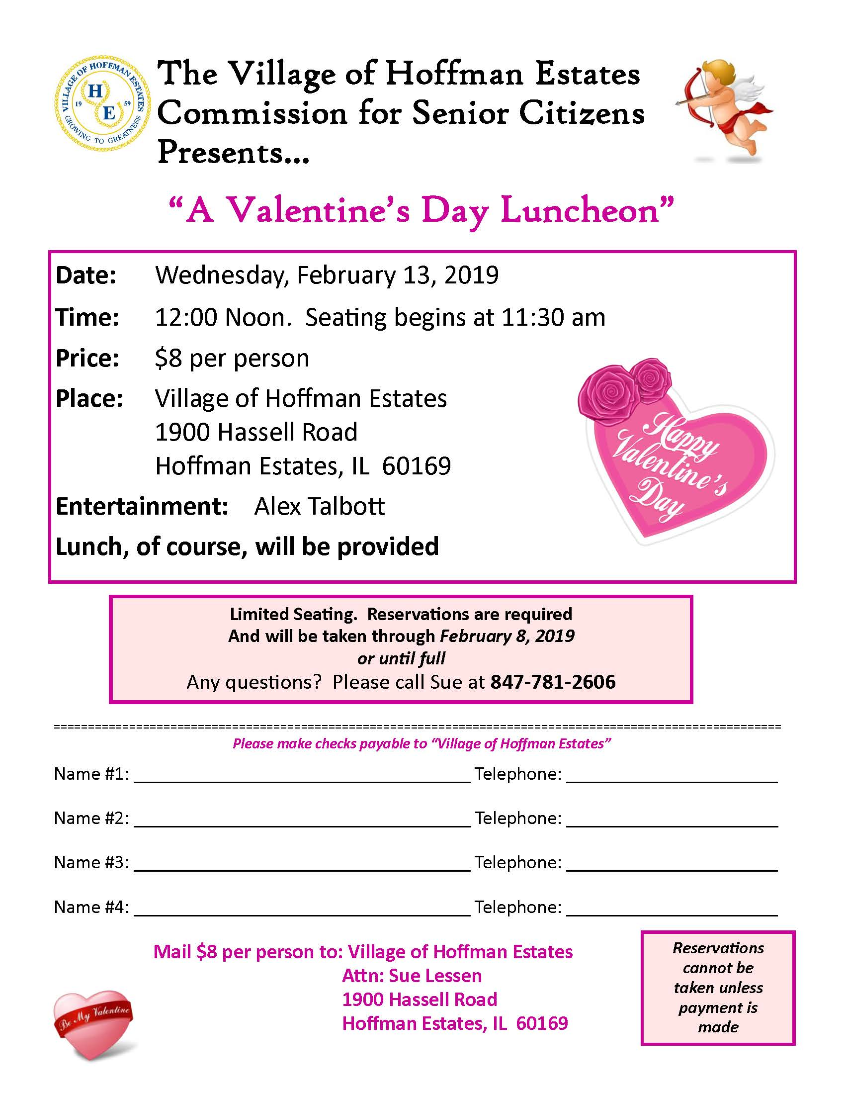 valentines luncheon flyer 2019