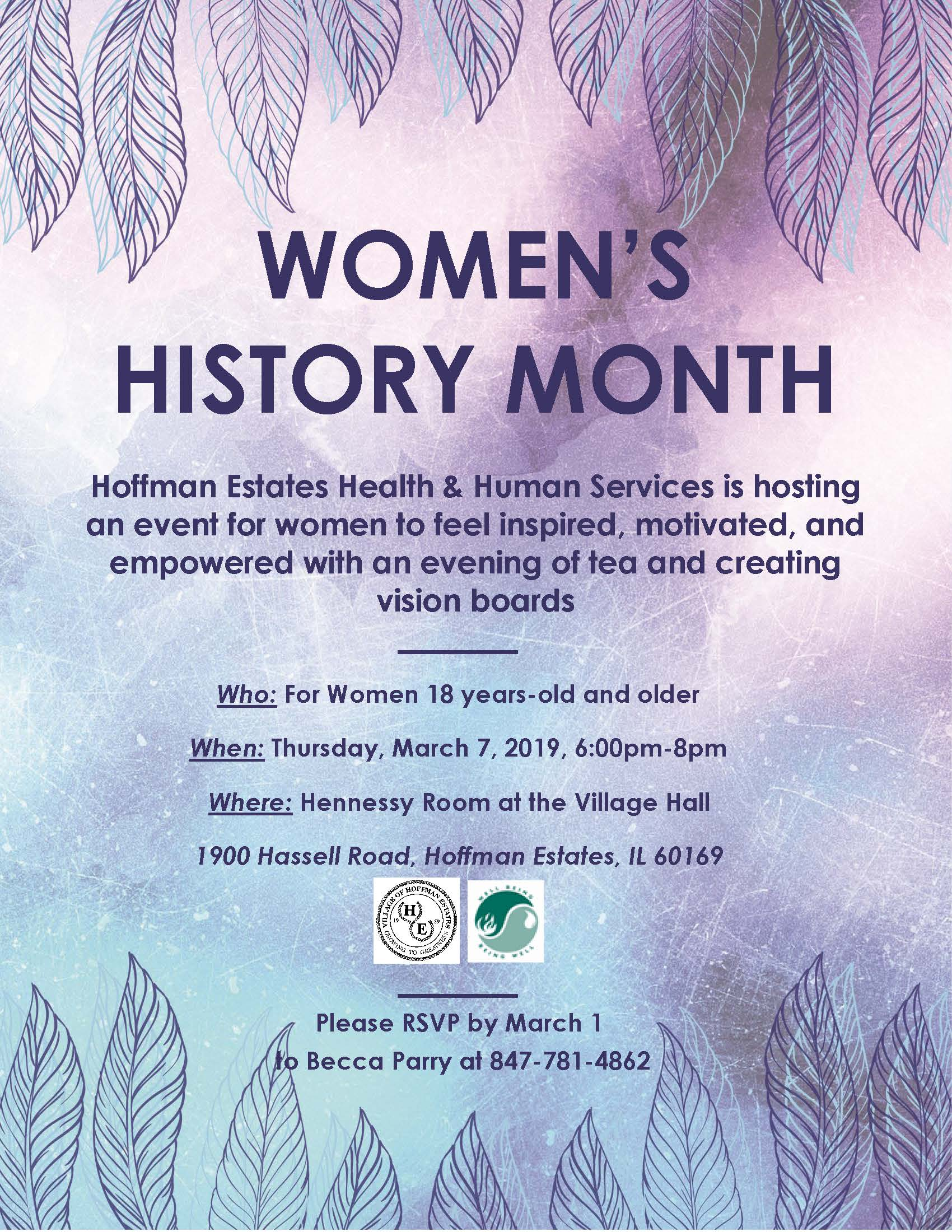 Womens History Month event 2019