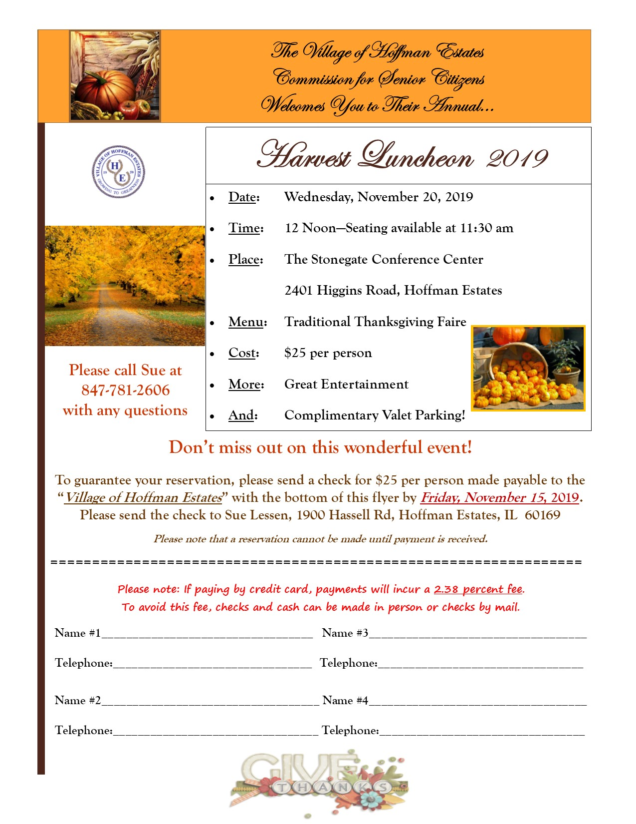 Harvest Luncheon Flyer 2019